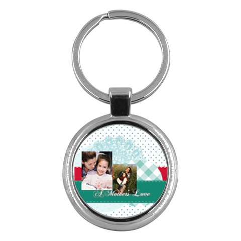 Mothers Day By Mom   Key Chain (round)   1oww7gcx1v27   Www Artscow Com Front