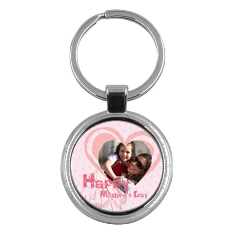 Mothers Day By Mom   Key Chain (round)   7q1ola00adtb   Www Artscow Com Front