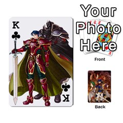 King Fire Emblem Radiant Dawn By Cheesedork   Playing Cards 54 Designs   K9l9xjdog2te   Www Artscow Com Front - ClubK