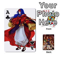 Ace Fire Emblem Radiant Dawn By Cheesedork   Playing Cards 54 Designs   K9l9xjdog2te   Www Artscow Com Front - ClubA