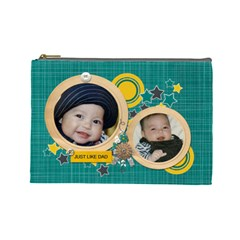 Cosmetic Bag (l): Just Like Dad By Jennyl   Cosmetic Bag (large)   Xxqq1gehiq0s   Www Artscow Com Front