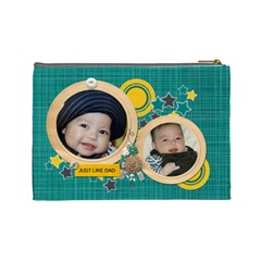 Cosmetic Bag (l): Just Like Dad By Jennyl   Cosmetic Bag (large)   Xxqq1gehiq0s   Www Artscow Com Back