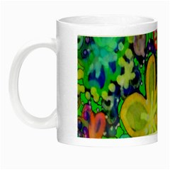 Beautiful Flower Power Batik Glow In The Dark Mug by rokinronda
