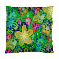 Beautiful Flower Power Batik Cushion Case (two Sided)  by rokinronda