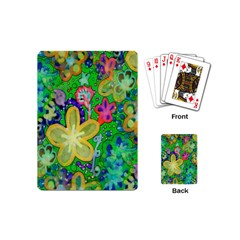 Beautiful Flower Power Batik Playing Cards (mini) by rokinronda