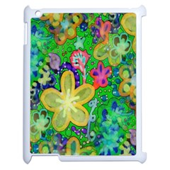 Beautiful Flower Power Batik Apple Ipad 2 Case (white) by rokinronda