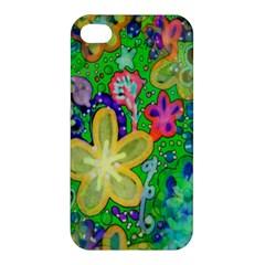 Beautiful Flower Power Batik Apple Iphone 4/4s Hardshell Case by rokinronda