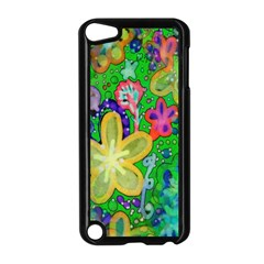 Beautiful Flower Power Batik Apple Ipod Touch 5 Case (black) by rokinronda