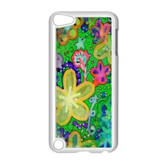 Beautiful Flower Power Batik Apple Ipod Touch 5 Case (white) by rokinronda