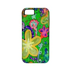 Beautiful Flower Power Batik Apple Iphone 5 Classic Hardshell Case (pc+silicone) by rokinronda