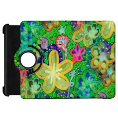 Beautiful Flower Power Batik Kindle Fire Hd 7  (1st Gen) Flip 360 Case by rokinronda
