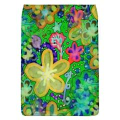 Beautiful Flower Power Batik Removable Flap Cover (large) by rokinronda