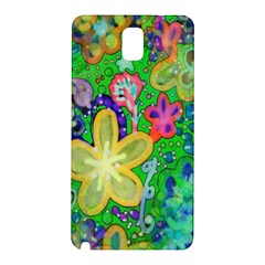 Beautiful Flower Power Batik Samsung Galaxy Note 3 N9005 Hardshell Back Case by rokinronda