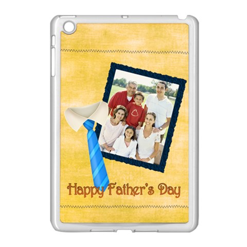 Fathers Day By Dad   Apple Ipad Mini Case (white)   99y2xk3giuxo   Www Artscow Com Front