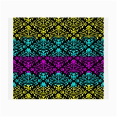 Cmyk Damask Flourish Pattern Glasses Cloth (small, Two Sided) by DDesigns