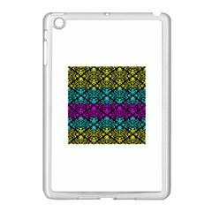 Cmyk Damask Flourish Pattern Apple Ipad Mini Case (white) by DDesigns