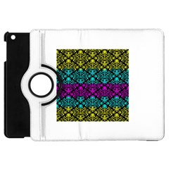 Cmyk Damask Flourish Pattern Apple Ipad Mini Flip 360 Case by DDesigns