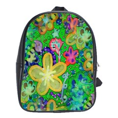 Beautiful Flower Power Batik School Bag (large) by rokinronda