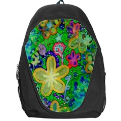 Beautiful Flower Power Batik Backpack Bag by rokinronda