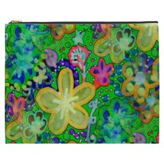 Beautiful Flower Power Batik Cosmetic Bag (XXXL)