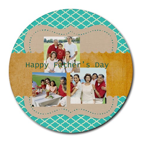 Fathers Day By Dad   Collage Round Mousepad   Toofj1005b8u   Www Artscow Com 8 x8 Round Mousepad - 1