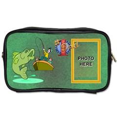 Fishing Dad s Toiletries Bag  By Joy Johns   Toiletries Bag (two Sides)   W91y6o0ozurj   Www Artscow Com Front