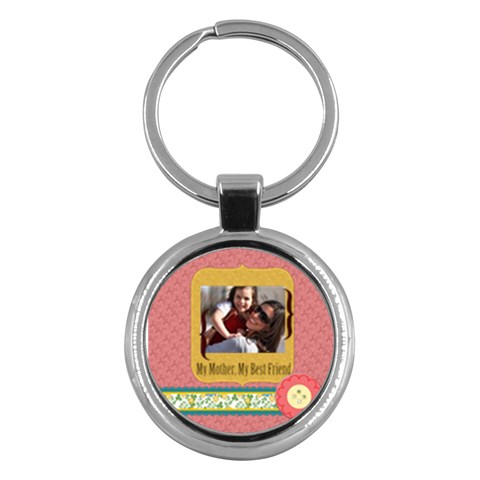 Mothers Day By Mom   Key Chain (round)   I0j2oljimhja   Www Artscow Com Front