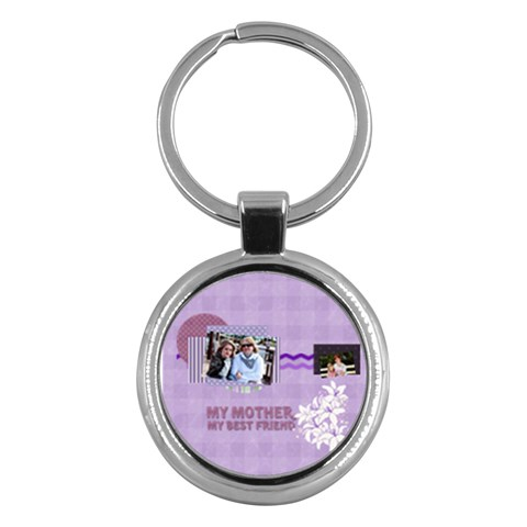 Mothers Day By Mom   Key Chain (round)   Jji2qdb1975c   Www Artscow Com Front