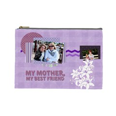 Mothers Day By Mom   Cosmetic Bag (large)   Gt7vf5r3q0y8   Www Artscow Com Front