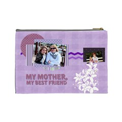 Mothers Day By Mom   Cosmetic Bag (large)   Gt7vf5r3q0y8   Www Artscow Com Back