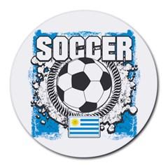 Soccer Uruguay Round Mousepad by MegaSportsFan