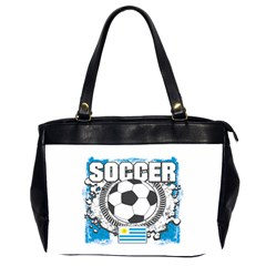 Soccer Uruguay Oversize Office Handbag (two Sides) by MegaSportsFan