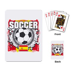 Soccer Spain Playing Cards Single Design by MegaSportsFan