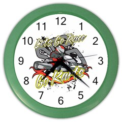 Lets Race Go Karts Color Wall Clock by MegaSportsFan