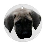 English Mastiff Pup Ornament (Round)
