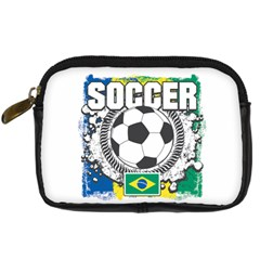 Soccer Brazil Digital Camera Leather Case by MegaSportsFan