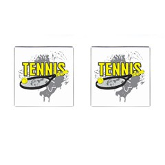 Tennis Cufflinks (square) by MegaSportsFan