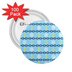 Anchors & Boat Wheels 2 25  Button (100 Pack) by StuffOrSomething