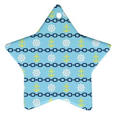 Anchors & Boat Wheels Star Ornament (Two Sides) by StuffOrSomething