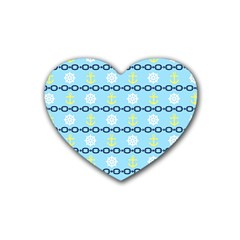 Anchors & Boat Wheels Drink Coasters (heart) by StuffOrSomething