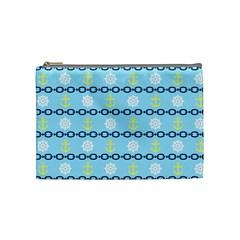 Anchors & Boat Wheels Cosmetic Bag (medium) by StuffOrSomething