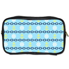Anchors & Boat Wheels Travel Toiletry Bag (one Side) by StuffOrSomething