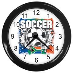 Soccer South Africa Wall Clock (black) by MegaSportsFan