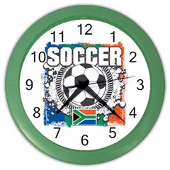 Soccer South Africa Color Wall Clock by MegaSportsFan