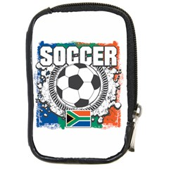 Soccer South Africa Compact Camera Leather Case by MegaSportsFan