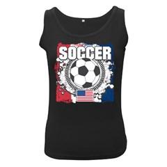 Soccer United States Of America Women s Black Tank Top by MegaSportsFan