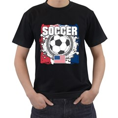 Soccer United States Of America Men s T Shirt (black) by MegaSportsFan