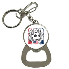 Soccer United States Of America Bottle Opener Key Chain