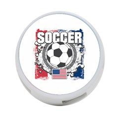 Soccer United States Of America 4 Port Usb Hub (one Side) by MegaSportsFan