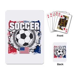 Soccer United States Of America Playing Cards Single Design by MegaSportsFan